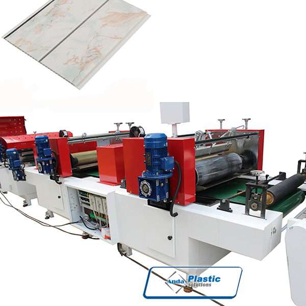Two color printing and UV coating machine for PVC ceiling