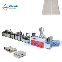 PVC ceiling panel extrusion line with online hot stamping machine