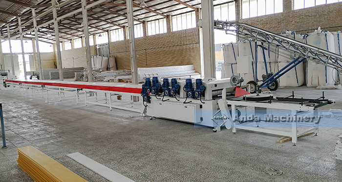 UV coating machine for PVC ceiling and wall panel running at tabriz Iran