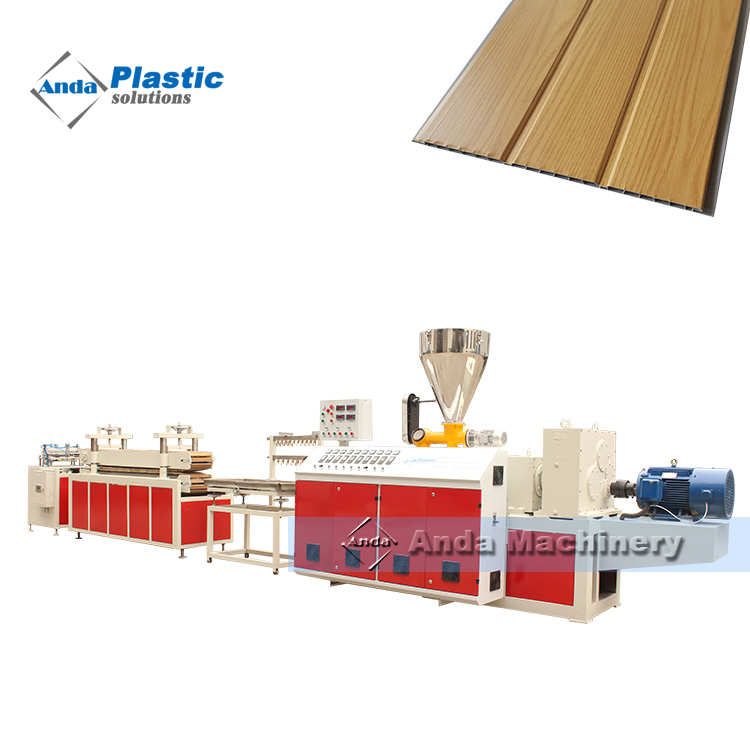 Double screw PVC wall panel extruder