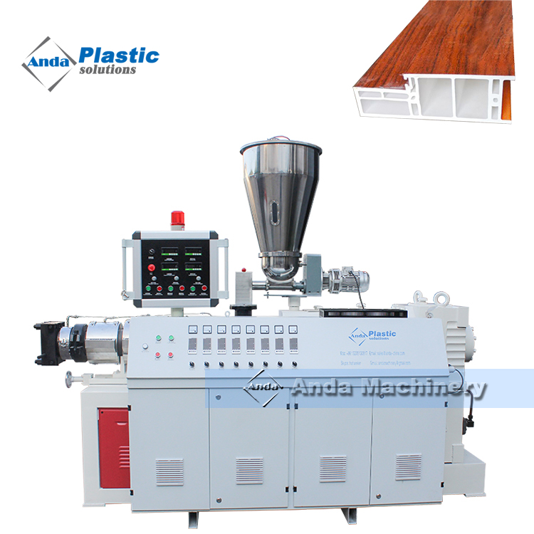 PVC door frame profile extruder machine