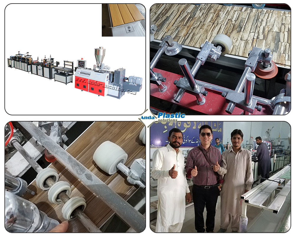 PVC wall panel production line running at Lahore, Arifwala of Paksitan.jpg
