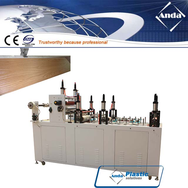 online Lamination machine and hot stamping machine for PVC ceiling and wall panel